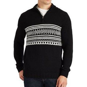 NWT Lg Men's Chaps Mockneck Pullover Sweater